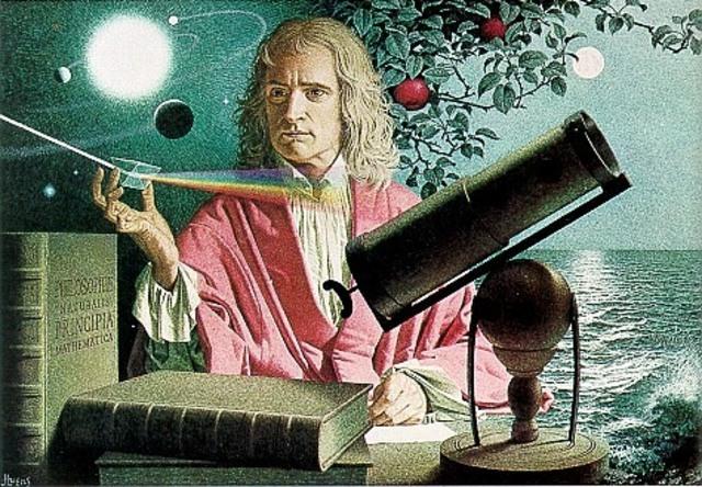Newton describe la gravedad