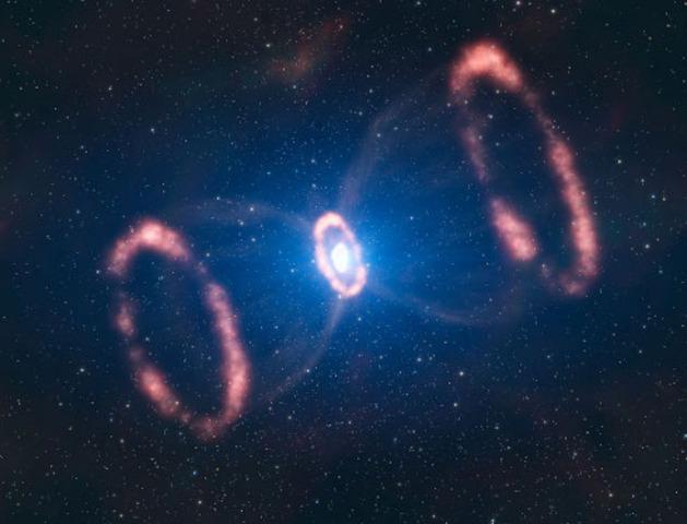 La luz emitida por la supernova 1987A llega a la Tierra