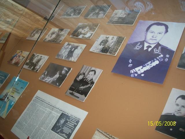 Экспозиция в краеведческом музее на Родине
