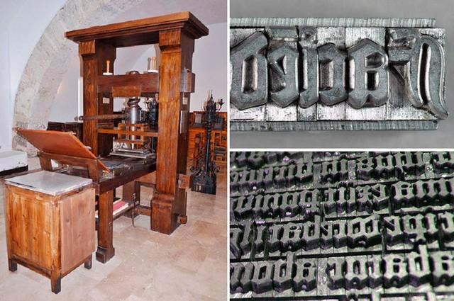 La imprenta de Gutemberg 1450 D.C.