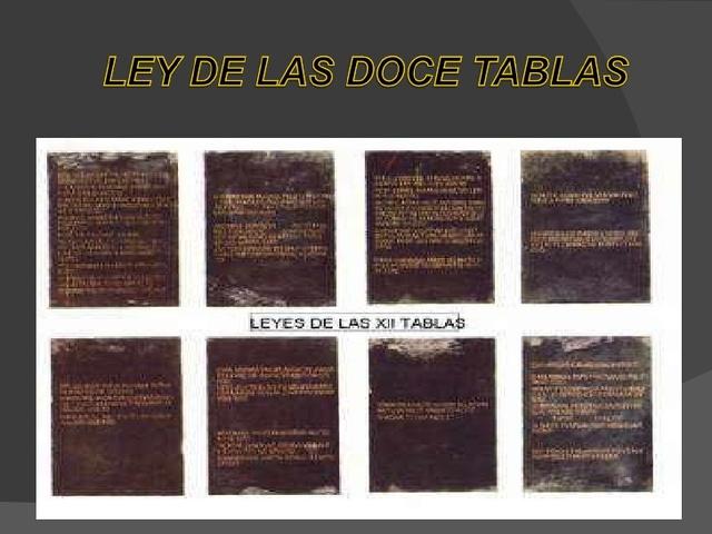 Antigua Roma: Ley de las Xll tablas