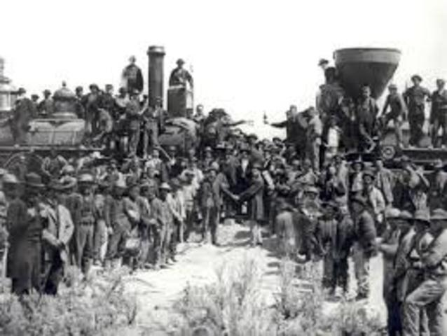Connection of the Transcontinental Railroad Lines