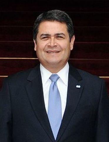 Juan Orlando Hernández 27 de enero de 2014-27 de enero de 2018