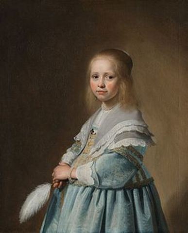 Portret van een meisje in het blauw