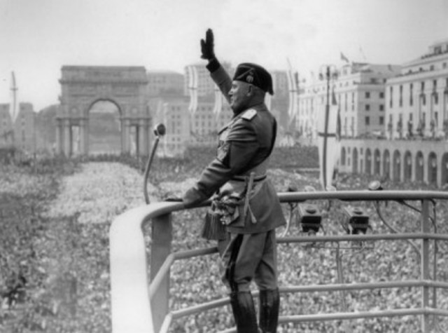 Mussolini's election in Italy