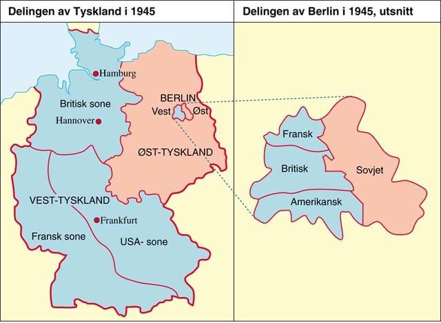Tyskland ble delt i fire