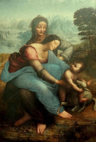 Maria met kind en sint-Anna ~ leonardo da vinci