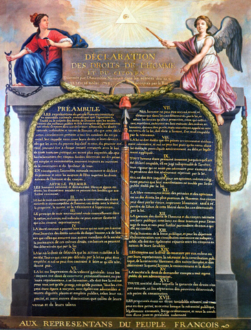 Declaration of rights of Man and the Citizen.
