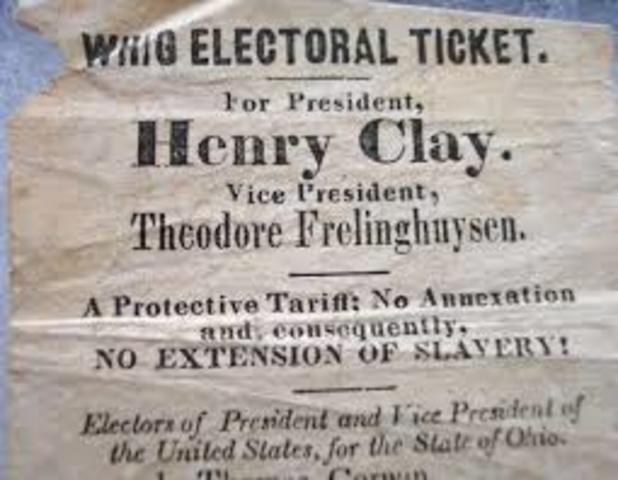 Creation of the Whig Party in the U.S.