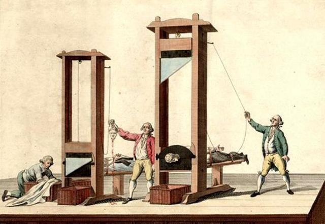 First use of guillotine.