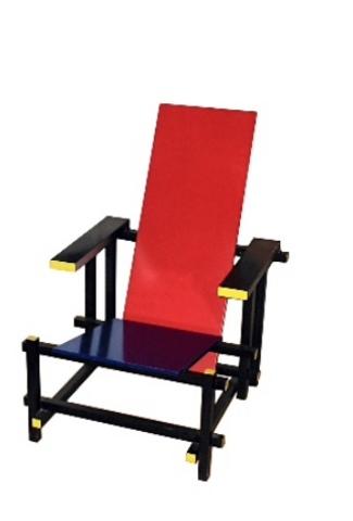 Rood blauw stoel - gerrit rietveld