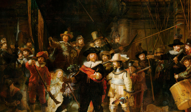 De Nachtwachtlaan - Rembrandt van Rijn