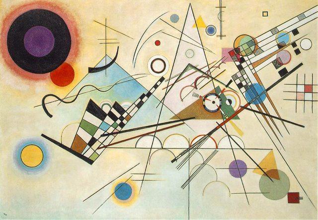 Compositie 8 (maar dan in romijnse cijvers) - wassily kandinsky