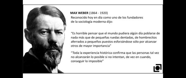 MAX WEBER (1864 – 1920)