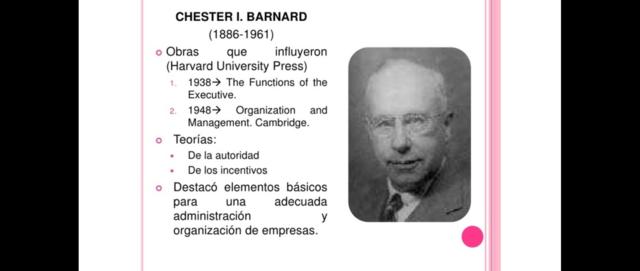 CHESTER I. BARNARD (1886 – 1961)