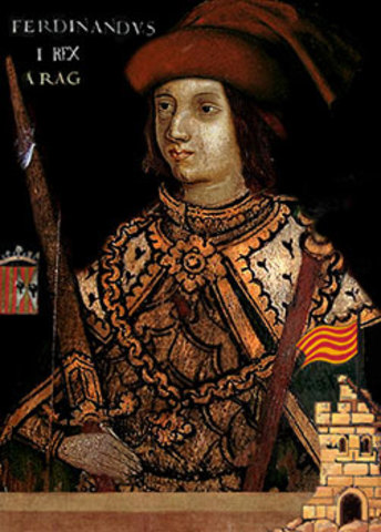 Fernando de Antequera rey de la corona de Aragón