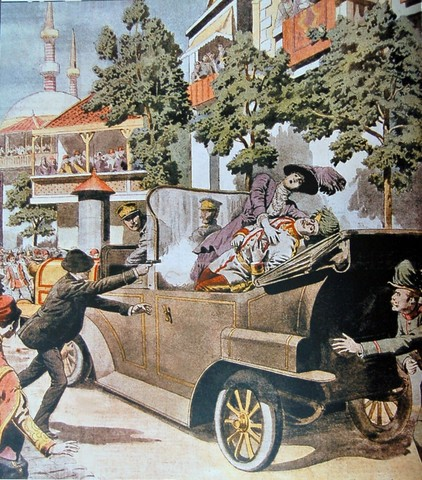 The Assassination on Austria's Archduke Franz Ferdinand