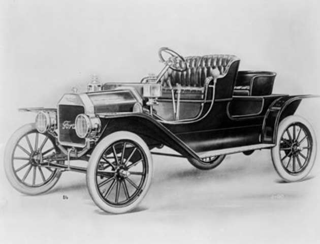 Henry Ford Produces His First Model T (car)