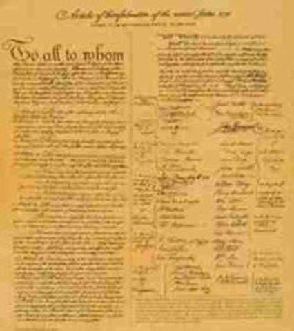 Articles of Confederation issued