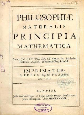 Publicaciones de las leyes de Newton