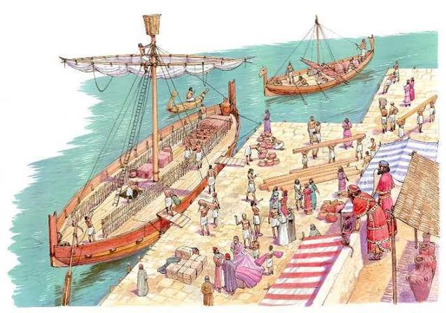 Los fenicios sustentaron su principal actividad económica en el comercio por vía marítima