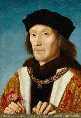 En Inglaterra fue coronado Enrique VII