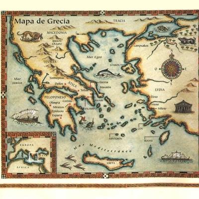 Eje cronológico de la Antigua Grecia timeline