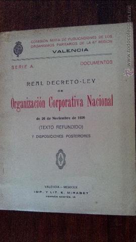 Creación de la Organización Corporativa Nacional