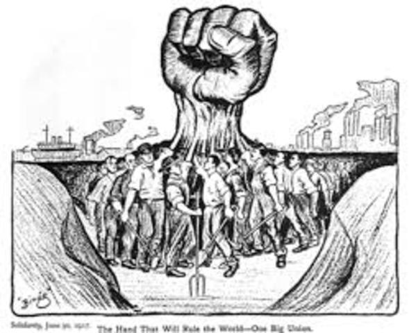 Se prohíben y son perseguidos los sindicatos y partidos obreros.