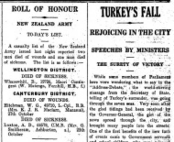 Armistice With Turkey