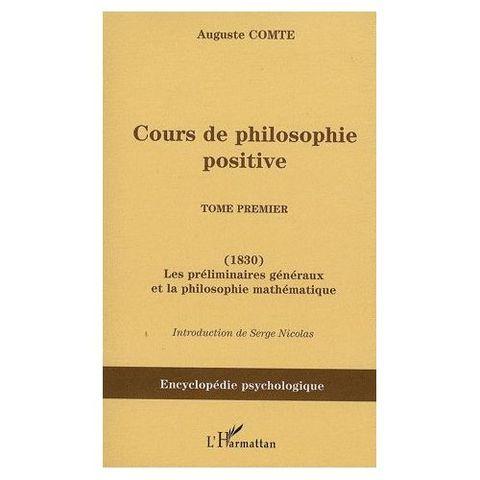 Cours de philosophie positive (1er tomo)