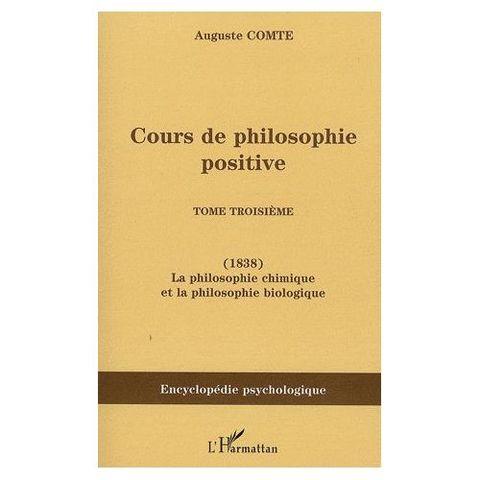 Cours de philosophie positive (3er tomo)