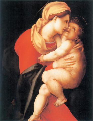 Pontormo, Madonna col Bambino, 1521, New York, collezione Hester Diamond.