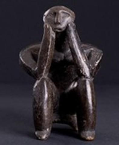 Thinker of Cernavoda (Cave Art)