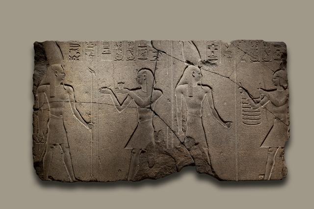 Nectanebo II offers to Osiris Hemag (Late Period)