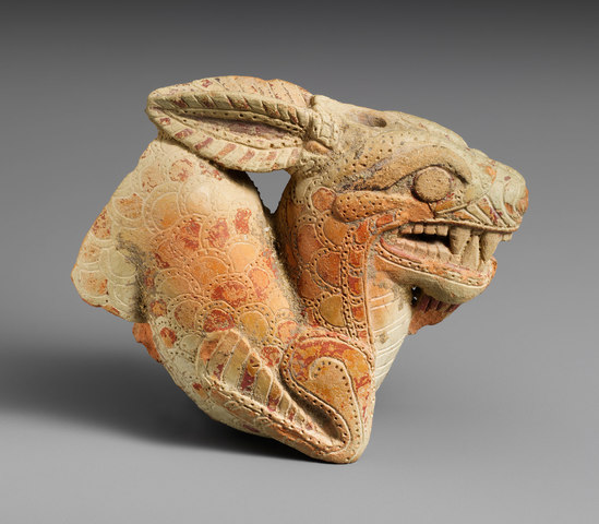 Terracotta vase in the form of a ketos (archaic)