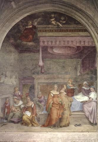 Andrea del Sarto, Natività della Vergine. chiostrino dei Voti dell'Annunziata