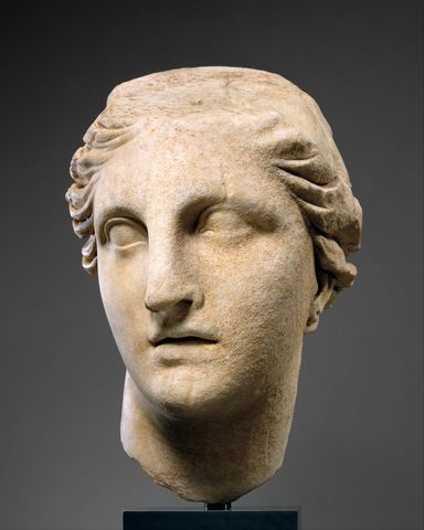 Marble head of Athena (Hellenistic)