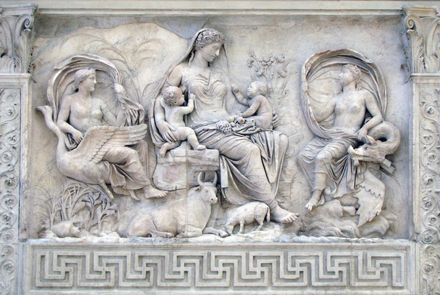 Relief from the art Pacis Augustae (Early Roman)