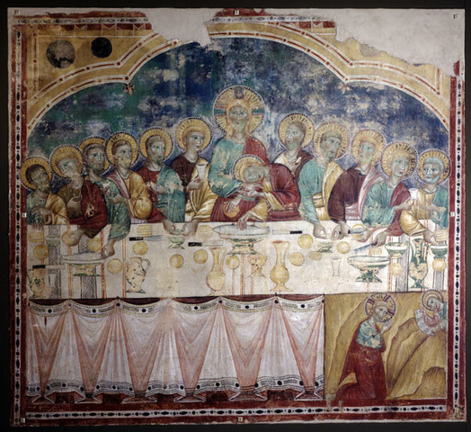 The Last Supper and the Agony in the Garden (Medieval)
