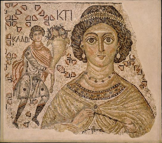 Fragment of a floor mosaic with a personification of Ktisis (Byzantine)