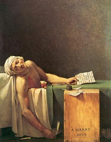 La mort de Marat- Jacques-Louis David
