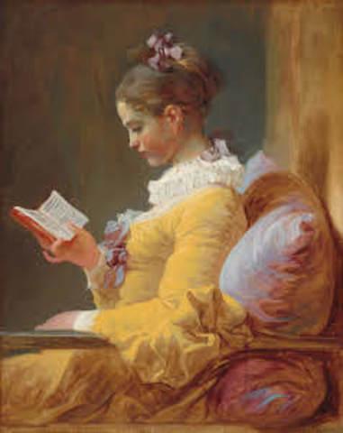 A young girl reading (Rococo)