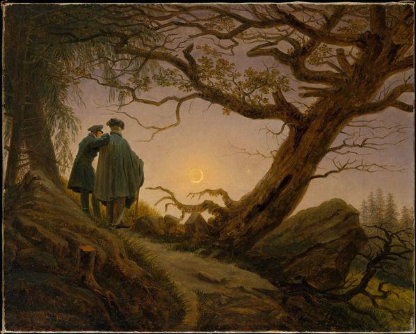 Two men Contemplating the Moon (Romanticism)