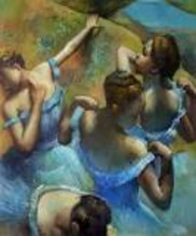 The Blue dancers (French Impressionism)