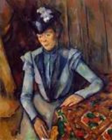 Lady in Blue (French Impressionism)