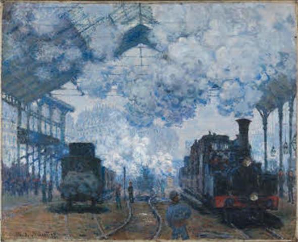 Gare Saint Lazare (French impressionism)