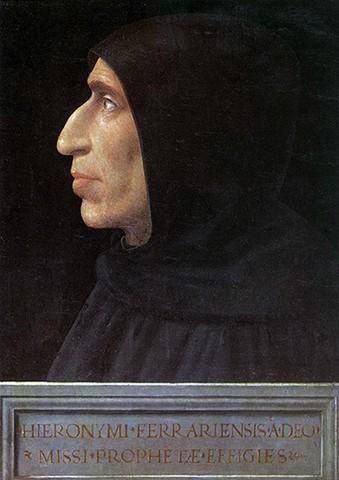 Fra Bartolomeo(1473-1517)Ritratto di Girolamo Savonarola1498 circa, olio su tavolaFirenze, Museo di San Marco