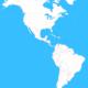 Americas blank map