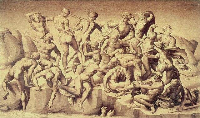 Aristotile da Sangallo, Battaglia di Cascina, dal cartone di Michelangelo